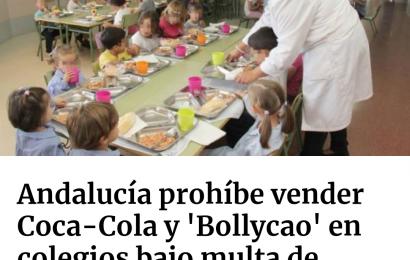 ARTÍCULO – Andalucía prohíbe vender Coca-Cola y Bollycao en colegios