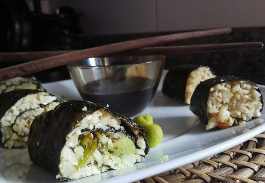 Sushi Maki de coliflor