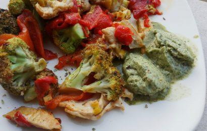 Brócoli salteado con pesto vegano